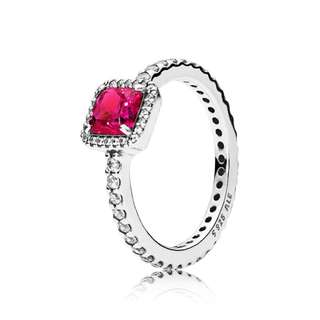 4e7206f80 Pandora Timeless Elegance RUBY with Clear Cubic Zirconia 92.5 Sterling  Silver Women's Bracelet Available Size 5