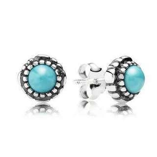 Pandora December birthstone earrings