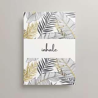 #MFEB20 Inhale Exhale - Two art print minimalist typography
