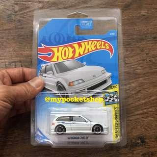 🚚 Hot Wheels '90 HONDA CIVIC EF (Super Treasure Hunt)