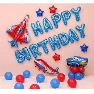 🚚 (In Stock)Cars Theme Birthday Party Decoration Set