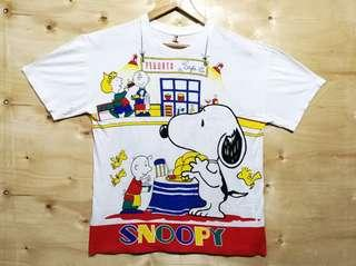 RARE! Vintage 80's 90s Snoopy Single Stitch Deadstock All