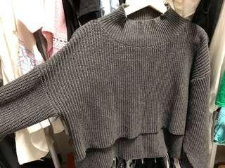 🚚 開衩袖口短版毛衣
