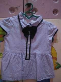 Janie and jack blue ribbon top