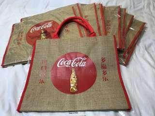 COCA COLA JUTE BAG LIMITED EDITION RARE