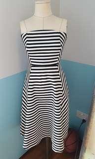 🚚 Funky b/w striped tube dress