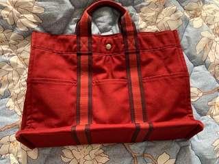 100% Authentic Hermes Herline Totebag Red
