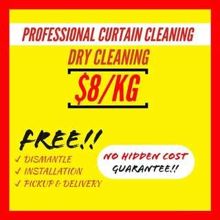 Curtain dry clean/laundry/cleaning