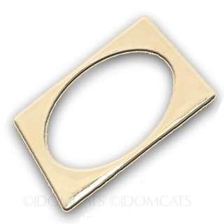 Gold Bangle Womens 方形 金色 手鐲 手鍊 最後一個 Unisex Gift Jewelry NEW Rectangular Bracelet A504#