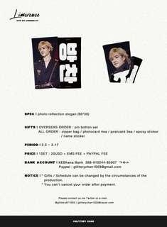 [MY GO] GLITTERY STRAY KIDS BANG CHAN 1ST SLOGAN - 2019 CHEERING KIT