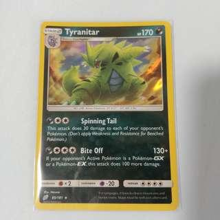 🚚 Pokemon TCG teamup Tyranitar Card