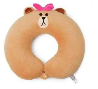[全新包郵]LINE FRIENDS 熊美 Choco 多功能旅行頸枕