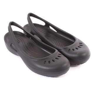 Original Crocs Black  Flat Shoes Size US W11 /Crocs Womens Kadee Slingback