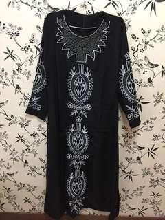 Gamis Arab Black