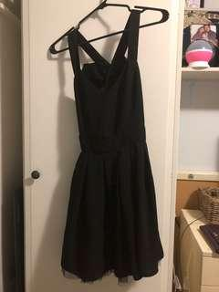 Black dress with bow at the back size small