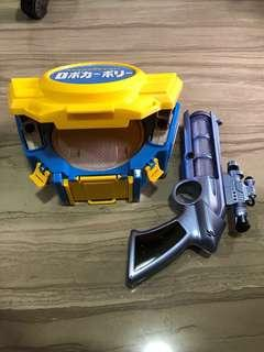Bundle Sale For Robocar Poli Carry Case & Toy Gun With Sound & Light