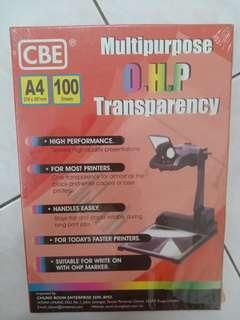 Multipurpose OHP Transparency