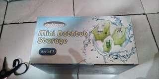 Mini bathub storage