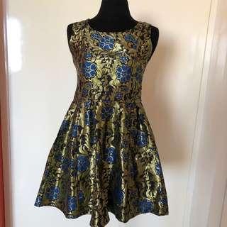 BNEW w/ tag brocade dress
