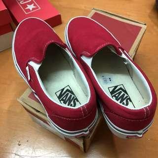 Vans正紅色懶人鞋