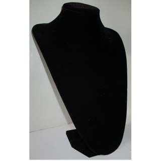 Jewelry Display Neck Stand Black Velvet