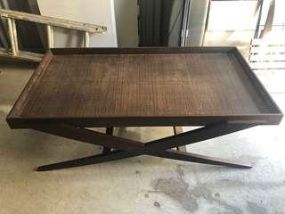 Vintage Large Wooden Coffee Table