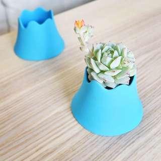 富士山 日本直送 多肉植物小盆栽 置物 小擺設  生活小品味 蠟燭台