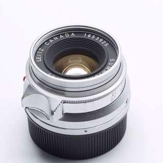 Leica 35mm 2.0 Summicron version 1 八妹 8 elements 八枚玉