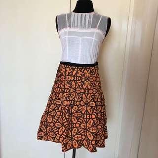 Mango skirt + Bayo lace top