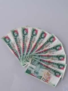 Ship series $5 on 10run unc
