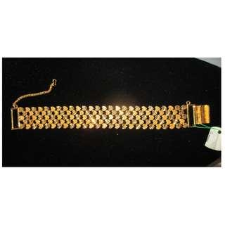 Gelang Tangan Hati Bracelet Emas GP Zhulian