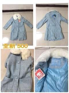 🚚 130女童大衣外套,長大了穿不下