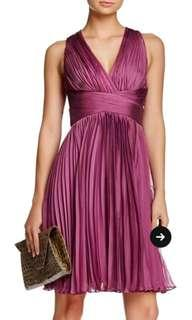 Heritage Orchid Halter Pleated Dress Size 8 NWT RRP $465 usd