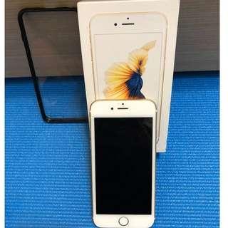 iphone6s 金 128G 九成新 已過保 有盒 可小議 有發票 無配件