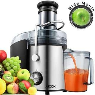 📣PROMO!! Aicok Juice Extractor 800W, 2-Speed Setting Easy to Clean Stainless Steel Centrifugal Juicer