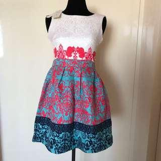 BNEW w/tag Embroidered dress