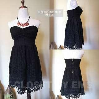 Black HQ Tube Lace Dress