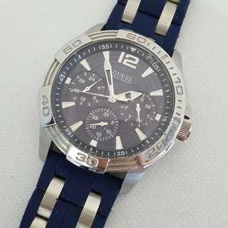 Guess Oasis Blue Dial Gents 44mm Watch