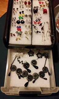 assorted costume jewellery with container!