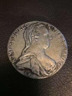 1780年奧地利女王Maria Theresa 紀念銀幣