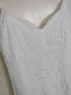 Doublewoot lace white dress