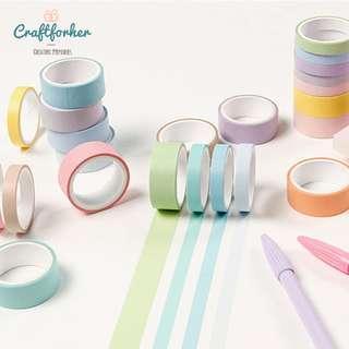 🚚 ★Tape★ 12 Rolls of Colorful Masking Tapes, Washi Tape for Scrapbooking, DIY Craft, Journaling