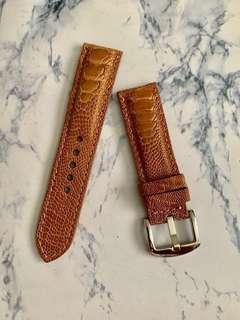 🚚 22mm/20mm Light Pecan Brown Ostrich Leg Watch Strap
