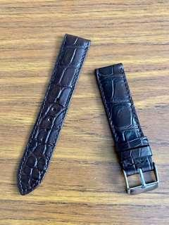 🚚 20mm/18mm Authentic Dark Pecan Brown Crocodile 🐊Alligator Watch Strap - rugged ridges 🥂