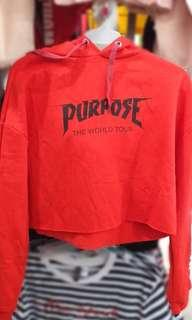 H&M Purpose World Tour Crop Hoodie