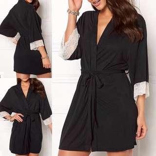Dorina 🎬 Cordelia Black Sleep Robe