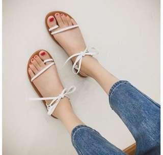 🚚 蝴蝶結綁帶涼鞋