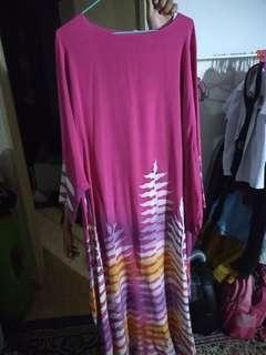 Chiffon silk kaftan