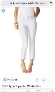 NEW white jeans 8