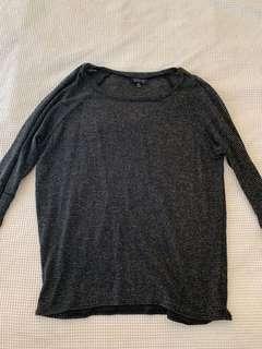 Black grey topshop jumper